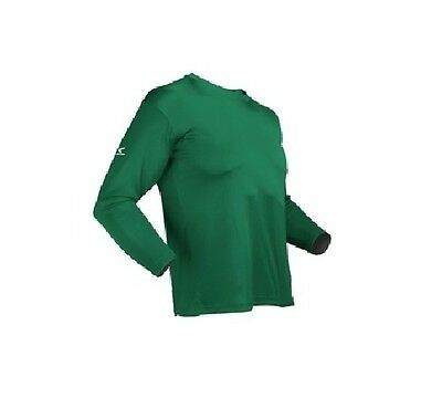 - Easton Spirit Long Sleeve Green Baseball Jersey Many Sizes Bio-Dri UV Protection