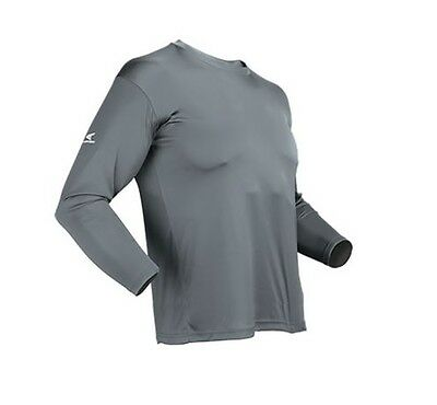 - Easton Spirit Long Sleeve Grey Baseball Jersey Many sizes Bio-Dri UV Protection