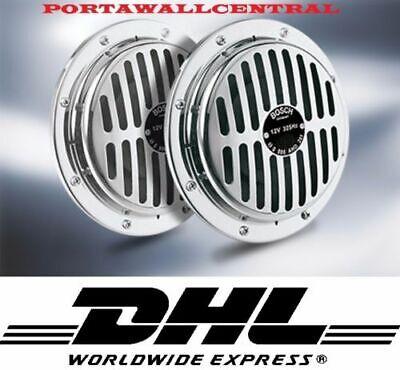 Bosch Grille Chrome Horn Vintage Porsche,Cadillac,Mercedes.Bmw,Porsche'' 2pcs