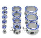 Blue 0g (8 mm) Thickness Gauge Tunnel/Plug Body Piercing Jewelry