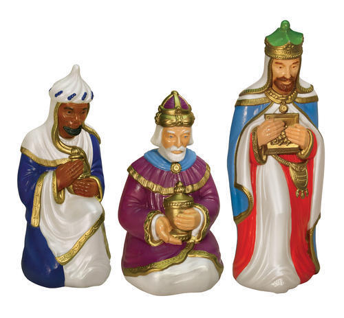 *NEW* 3 Wise Men Set Lighted Christmas Blow Mold Nativity Outdoors Yard