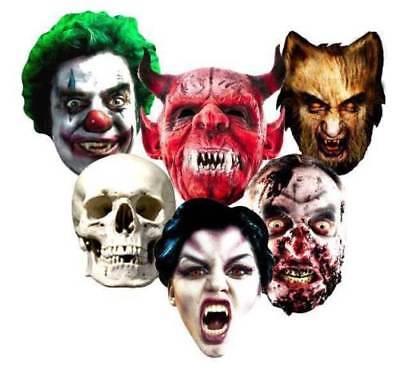 Halloween Tarjeta Caretas de Fiesta Miedo Terror Máscara Monstruos Zombi Truco - Monstruos Halloween