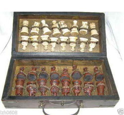 Antique Chinese Chess Set Ebay