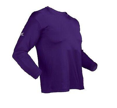 - Easton Adult Long Sleeve Purple Baseball Jersey small Bio-Dri UV Protection