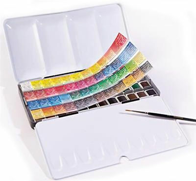 Sennelier L'Aquarelle Artists Watercolour 48 Half Pan Metal Box Set