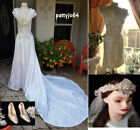 White Boat Neck Wedding Dresses