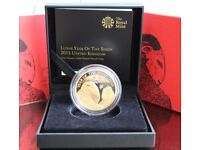 2015 Lunar Year Of The Sheep Gilded Silver Proof Coin - Royal Mint Limited Mintage - 4,888 Sold Out