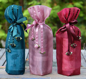 Hand made decorative wine bags. Peterborough Peterborough Area image 2