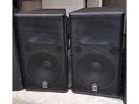 2 pairs of Yamaha DSR112s Active Top PA Speakers Available
