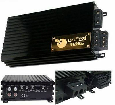 CRITICAL MASS AUDIO ULA800 V2.0 AMPLIFIER AMP 4CH JL BEST SOUND MADE IN THE USA