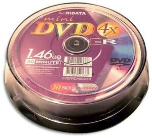 10-Pak-Ritek-Ridata-Mini-DVD-R-fits-HITACHI-PANASONIC-SONY
