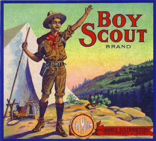 Los Angeles Boy Scout Boy Scouts Orange Citrus Fruit Crate Label Art Print
