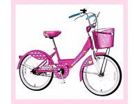 """GIRLS HELLO KITTY 20 """" Kids' Bike Age Range 7 years & upwards BRAND NEW BOXED"""