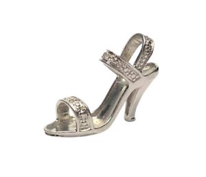 9ct White Gold Diamond Stiletto Pendant/Charm