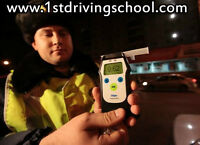 Approved school car equipped with the Ignition Interlock device