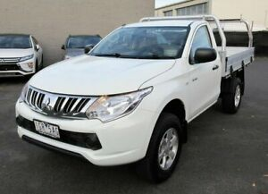 2015 Mitsubishi Triton MQ MY16 GLX 4x2 White 6 Speed Manual Cab Chassis Lilydale Yarra Ranges Preview