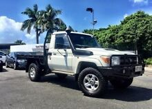 2012 Toyota Landcruiser VDJ79R MY13 GXL White 5 Speed Manual Cab Chassis Mackay 4740 Mackay City Preview