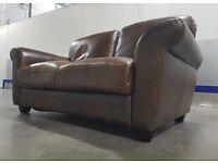 Real Italian Leather 2 Seater Sofa
