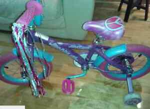 Pink and Purple girl bike (for girls 4-6 years old)