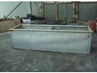 Galvanised steel livestock trough