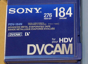 SONY Digital Video Cassette HDVCAM PDV-184N/3 Tapes 10 PIECE NIB