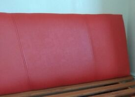Gorgeous Red Faux Leather Headboard Brand New still in Box