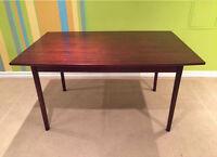 Mid century modern vintage rosewood (not teak) dining table