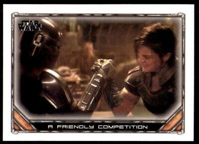 2020 Star Wars The Mandalorian Season 1 Base #82 A Friendly Competition