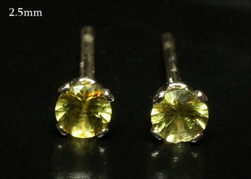 Extraterrestrial Peridot Earrings - From a Pallasite Meteorite - 2.5mm