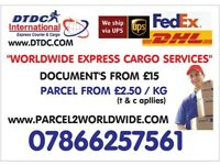 FROM £1/PER KG SEND PARCELS TO USA/CANADA/EUROPE & WORLDWIDE...