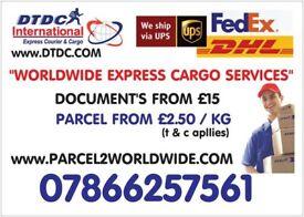 NEW CHEAPER PARCEL SERVICE 2 USA/CANADA/EUROPE/UAE/INDIA/PAKISTAN N WORLDWIDE..
