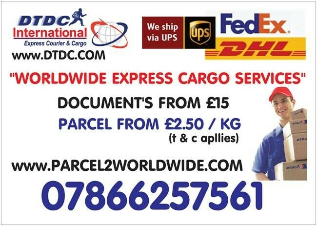 From £1 50 Send parcels TO INDIA/PAKISTAN/UAE/USA/EUROPE N