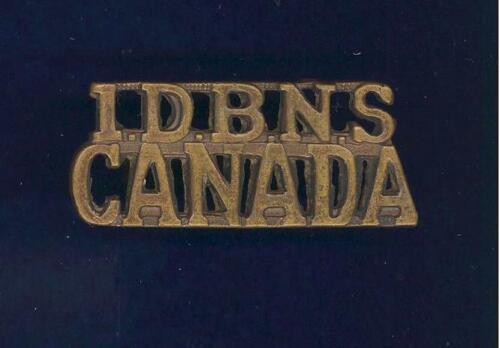 """1st Nova Scotia Depot Battalion """"1DBNS.CANADA"""" bronze shoulder badge -scarce"""