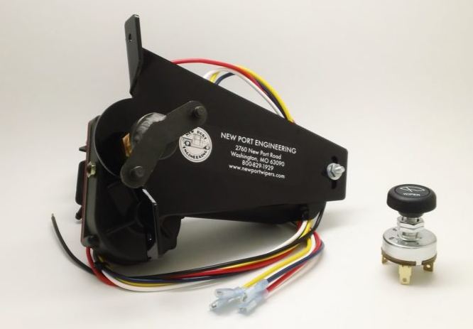 Dodge / Plymouth 12V Electric Wiper Motor For Use With Stock Radio 1946-1948