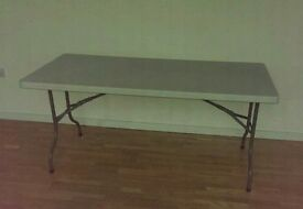 Foldable desk workbench table
