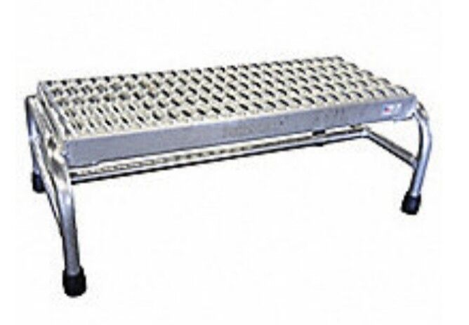Cotterman 20Z504 all-welded aluminum stationary step stand 500 lb. Load Rating