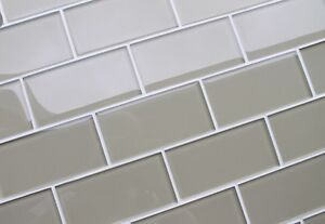 "3x6"" Bliss Smoke Glass Subway tile WOW $3.99 SF Windsor Region Ontario image 3"
