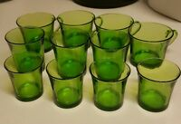 Green glass mugs and juice/water cups glasses