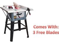 "SEALEY TOOLS TS10P TABLE SAW 10"" 254MM 1500W TABLESAW + 3 BLADES"