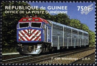 General Motors EMD Class F40/F40PH (METRA F40PHM-2 No.199) Diesel Train Stamp