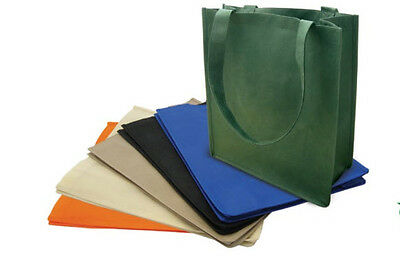 1 DOZEN Recycled Reusable Eco Friendly Grocery Shopping Tote Bag 13x15x6 Gusset