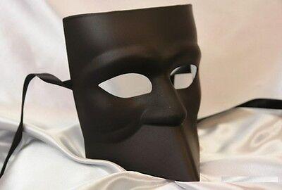 Bauta Roman Sun Warrior Venetian Masquerade Mask for Men M33163 [Black]