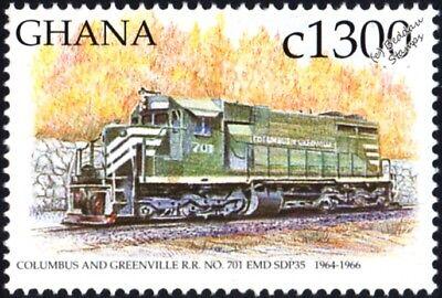 COLUMBUS & GREENVILLE (C&G) GM EMD Class SDP35 No.701 Diesel Train Stamp (USA)