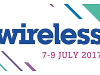 2 SATURDAY & SUNDAY - WIRELESS FESTIVAL - FINSBURY PARK - CLOSE OFFERS !