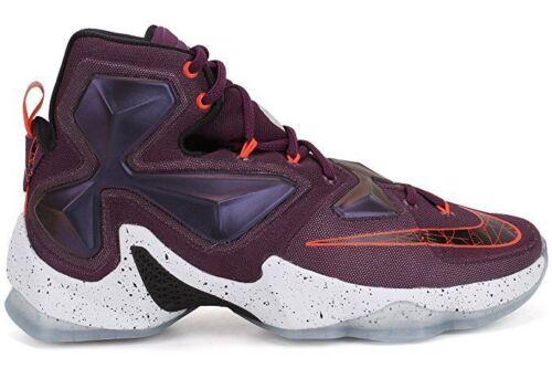 Nike Men's Lebron XIII Mulberry/Blk/Pr Pltnm/Vvd Prpl Basketball Shoe 10 Men US 807219-500