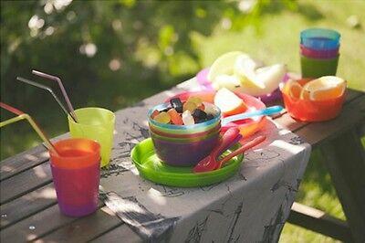 IKEA Childrens Eating Ware Colorful BPA Free Kids Dining Party Utensils KALAS