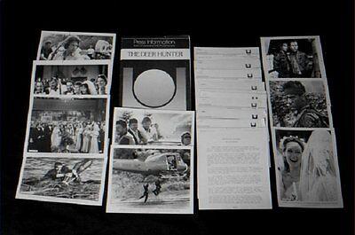 Original DEER HUNTER 9 Photo Press Kit WALKEN De Niro SAVAGE Streep VIETNAM WAR