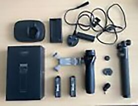 DJI Osmo Handle Kit (NO X3/Z3 Camera) + Base, Microphone, Extra Battery, Extension Rod etc