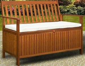 Cassapanca panca baule box in legno per esterno giardino - Panca contenitore ikea ...