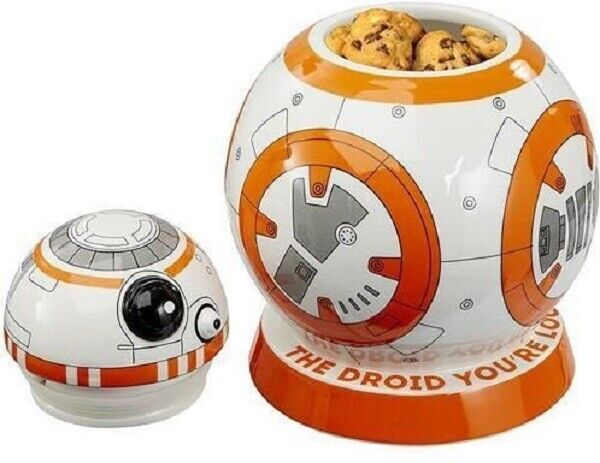Star Wars VIII Keksdose / Plätzchendose mit Sound  BB8  weiß